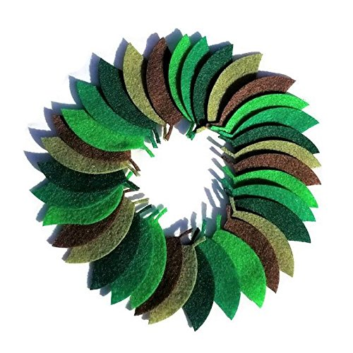 Felt leaves pack of 115 By Wildflower Toys