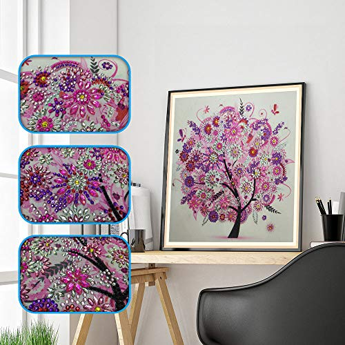 Silver Lining Cross Stitch Patterns - Kailemei Fashion DIY 5D Diamond Painting by Number Kits Rhinestone Diamond Embroidery Paintings Arts Craft Home Decor Wall