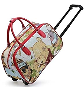 Womens Ladies Girls Printed Holdall Holiday Weekend Luggage Travel Trolley  Pull Along Fashion Bag - G83 a6c04d06d