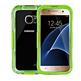 Waterproof Case for Galaxy S7, WEKSI Water Resistant Shockproof Dirtproof Snowproof Cover Hard Shell for Samsung Galaxy S7 (Green)