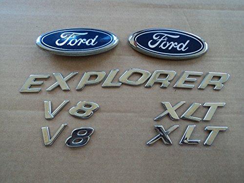 02 Ford Explorer Xlt V8 Front Grill Rear Trunk Side Fender Used Emblem Lettering Individual Badge Logo Decal Ornament Full Set of 7 (Fender Grill)