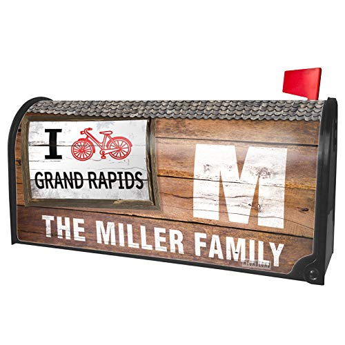 NEONBLOND Custom Mailbox Cover I Love Cycling City Grand Rapids -