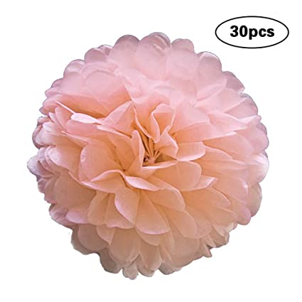Zauberartikel & -tricks 30pcs Chic Tissue Hanging Paper Multi Usage Spherical Heads Light Pink 15cm