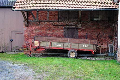 Home Comforts Old Farm Agriculture Crown Manure Spreader Vivid Imagery Laminated Poster Print 11 x 17 ()