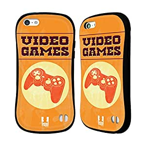 Head Case Designs Games My Lifestyle Collection Hybrid Gel Back Case for Apple iPhone 5c