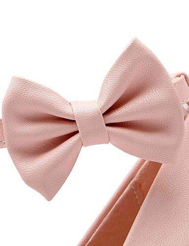 Oficina y cn36 pink Tacones Beige us8 Mujer Tacón beige uk6 Robusto Tacones Redonda cn39 cn36 eu36 GGX uk4 eu39 us6 eu36 Rosa Azul Trabajo us6 uk4 Punta PU beige Casual 408Yqw4x