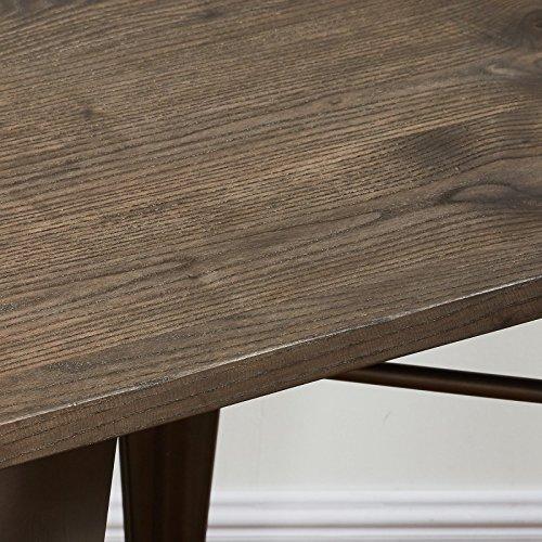 MyChicHome Raleigh, Rustic Industrial, Metal Body, Wooden Seat, Bench (Entryway, Indoor, Outdoor, Patio, Garden) in Gunmetal by MyChicHome (Image #1)