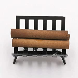 SXFSE 1:12 Dollhouse Miniature BBQ Grill Oven Model, Roasting Cart Firewood Rack Holder Dollhouse Cooking Tool Garden Decoration Kitchen Accessories Furniture Toy for Children Kids