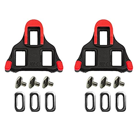 Road Bike Cleats ODIER Bicyce Cycling Cleats Compatible with Shimano SPD-SL (6 Degree Float) (red) (Bike Cleat Adaptor)