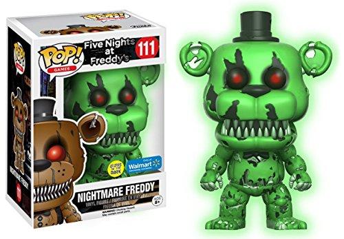 Funko Pop Games: FNAF NIGHTMARE FREDDY GITD Exclusive #111 (Glow In The Dark Nightmare Freddy Pop)