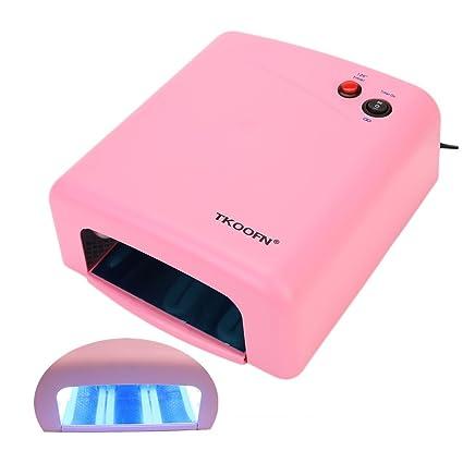 Mercedes - Lámpara UV para uñas postizas (gel, temporizador), color rosa