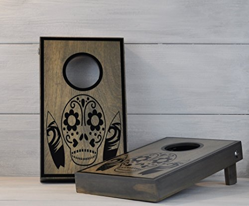 Bar Games, Mini Cornhole, Sugar Skull, Day of the Dead, Office Games, Racing Gift, Nascar Gift, Tailgating, Corporate Gift, RV Gift, Camping by checkeredflagswag