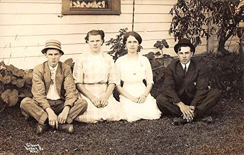 Gibson Valley Point West Virginia Young Women Men Real Photo Postcard K107301
