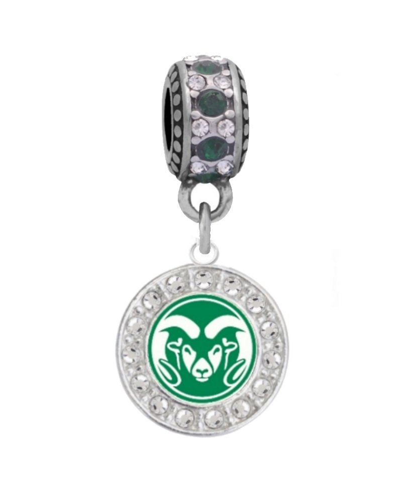 Final Touch Gifts Colorado State University Charm Fits European Style Large Hole Bead Bracelets