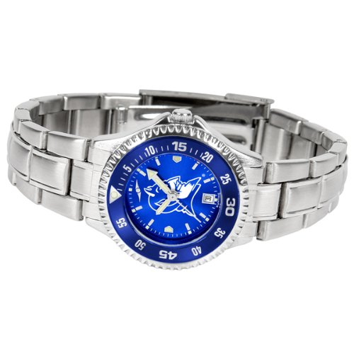 Duke Blue Devils Women's Stainless Steel Dress Watch (Devils Blue Watch Womens Duke)