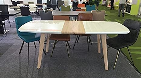 sdm Mesa de Comedor nordica Extensible 160-200 x 90 cms: Amazon.es ...
