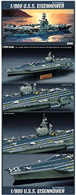 Academy Model Kit 1/800th Scale U.S.S. Eisenhower Aircraft Carrier #14212
