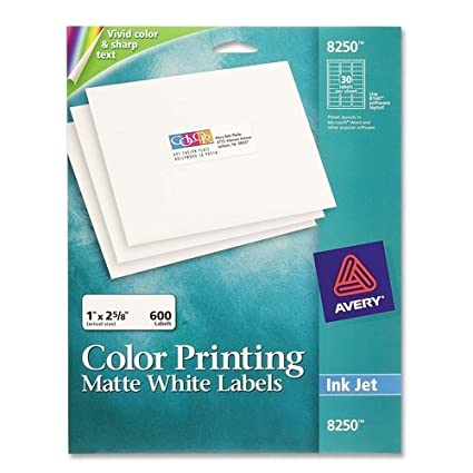 Amazon Ave8250 Avery Inkjet Labels For Color Printing