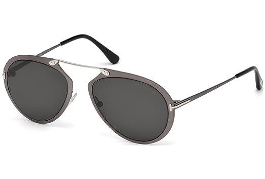 eebedb4bc54 Amazon.com  Sunglasses Tom Ford DASHEL TF 508 FT 08Z shiny gumetal ...