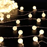 Dimable Ball Fairy Lights,ER CHEN(TM) 100 LED 33Ft Globe String Lights,Battery Operated Ball Fairy String Light with Remote&Timer for Garden Party Christmas Wedding Indoor Decoration(Warm White)