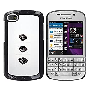 Be Good Phone Accessory // Dura Cáscara cubierta Protectora Caso Carcasa Funda de Protección para BlackBerry Q10 // Ruby Emerald Drawing Art