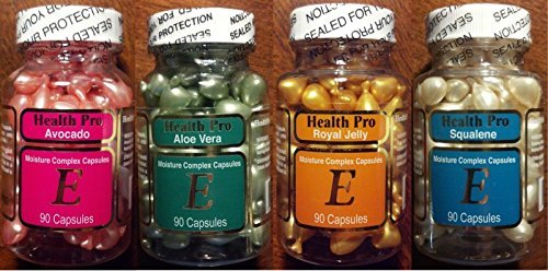Set of 4 Vitamin E Skin Oil-avocado/aloe Vera/royal Jelly/squalene