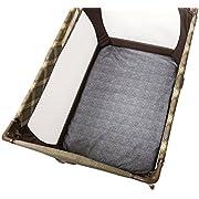 Chicco Waterproof Playard Sheets (Set of 2) Baby Infant Portable Playard Bed Genesis Gray