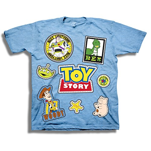 Disney Pixar Toy Story Shirt - Buzz Lightyear and Sheriff Woody Tee - Toy Story T-Shirt (4T) ()