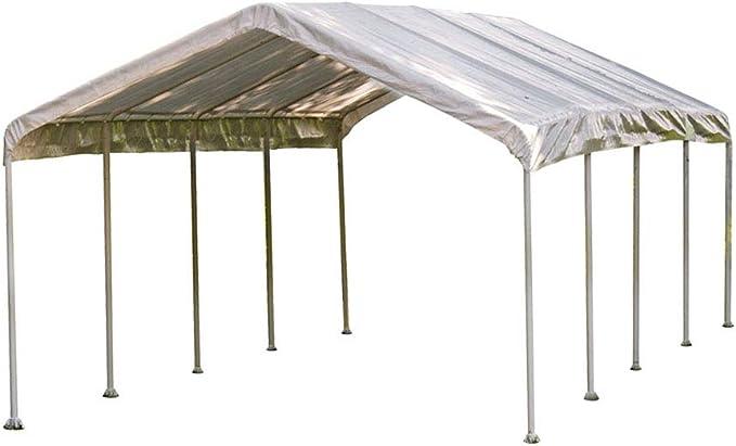 ShelterLogic – Carpa, Refugio de aluminio, Blanco, 370 x 790 x 290 cm (largo x ancho x alto): Amazon.es: Deportes y aire libre