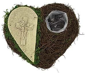 Ratán de corazón con cruz plantar