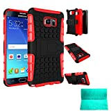 Note 5 Case,Galaxy Note 5 Case,Moment Dextrad [Non-Slip][Perfect Fit][Stand Feature]Dual Layer Armor Defender Case for Samsung Galaxy Note 5 (Red)