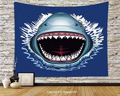 AngelDOU Shark Dorm Decor Wall Hanging Tapestry Attack
