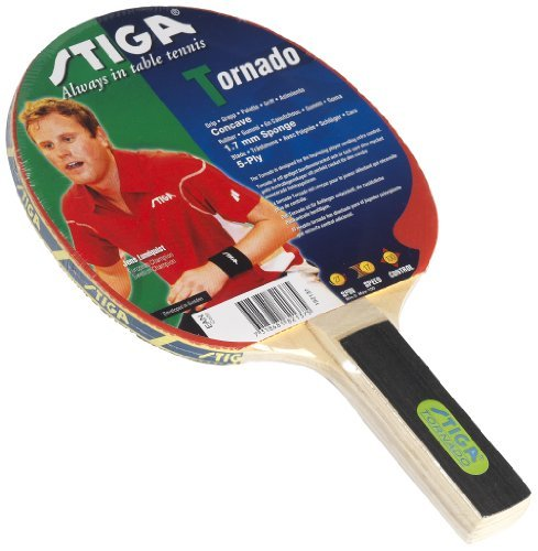 Stiga 182137 Tornado Table Tennis Bat - Red, Straight by Stiga by Stiga