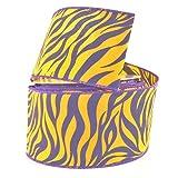 Homeford FJT00000U3031149 Ribbon, 2-1/2'', Purple/Gold