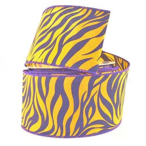 Homeford FJT00000U3031149 Ribbon 2-1/2'' Purple/Gold