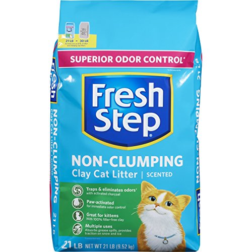 Fresh Step Non-Clumping Clay Cat Litter Scented 21lbs