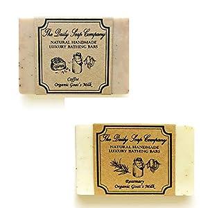 The Daily Soap Company Anti Tan Soap Combo – Coffee Soap 100 gms & Rosemary Soap 100 gms