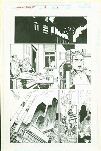 Marvel team Up #6 Josh Hood Original Comic Art Page #5 Spider-Man Sub-Mariner (Comic Original Book Art)