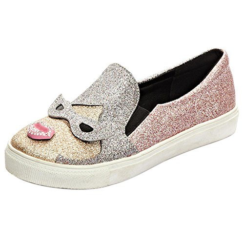 AicciAizzi Canvas Shoes Pink On Slip Women HHPWnqv0