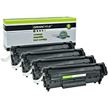 GREENCYCLE Black Toner Cartridge Compatible with high yield CANON 104 CRG104 FX9 FX10 & HP Q2612A 12A- D420 D480 MF4150 MF4270 MF4350 MF4370 MF4690 L90. HP 1018 1020 M1120 3015 3020 3030 3050 3055
