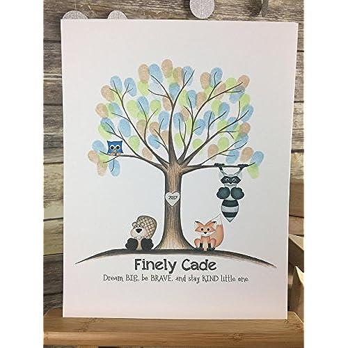 Print Finger Tree Baby Shower Amazon