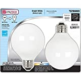 Utilitech Globe CFL Light, 6 (2-bulb packs), 600 Lumens, Bright White, 12-Watt(60 Watt equivalent) 12 Bulbs Total