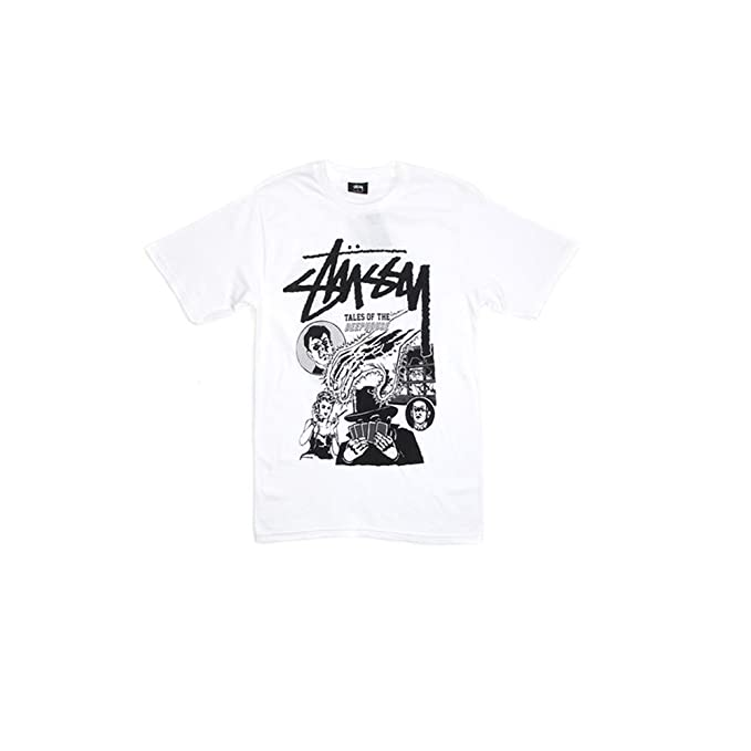 702055fd Stussy Tales Of The Deep House Men's T-shirt (White, Large): Amazon ...