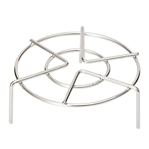 "Kaimao Multi-function Stainless Steel Steaming Rack Stand, Heavy Duty Cooking Ware Steam Rack (5"" Diameter X 3"" High)"