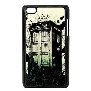 iPod Touch 4 Case Black Tardis MS4625006