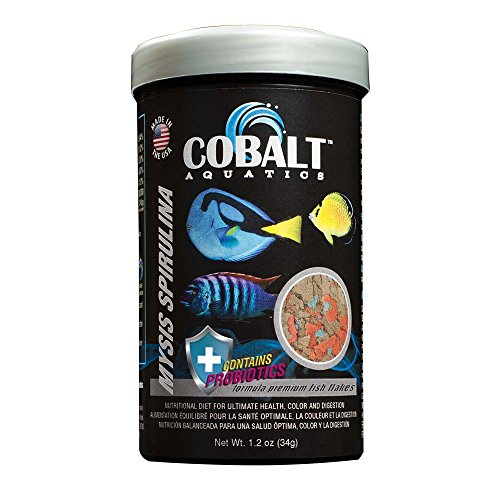 Cobalt Aquatics Mysis Spirulina Flake, 1.2 oz