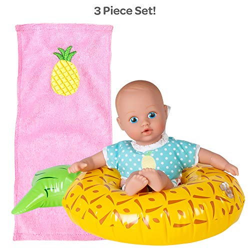Adora Water Baby Doll, SplashTime Baby Tot Sweet Pineapple 8.5 inch Doll for Bathtub/Shower/Swimming Pool Time Play (Water Doll Baby)