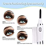 Heated Eyelash Curler, Portable Electric Heated USB Rechargeable Eye Lashes Curve Curler Mini Size Makeup Tool