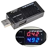 Lysignal Dual USB Charger Tester Meter USB Multimeter USB Current Voltage Tester Meter