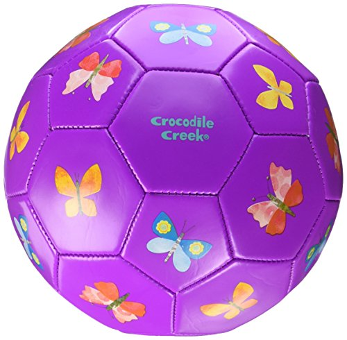 Crocodile Creek Butterflies Purple Kids Soccer Ball Size 3/7 inches Toy 2212-5